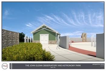Observatory Illustration Perspective Study